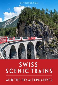 The Bernina and Glacier Express Swiss scenic trains – and the DIY alternatives Switzerland's Bernina and Glacier Express are among Europe's best rail journeys. But are the Swiss scenic trains worth the cost or can you do it cheaper? Europe Travel Tips, European Travel, Travel Guides, Travel Destinations, Europe Packing, Traveling Europe, Backpacking Europe, Packing Lists, Travel Hacks