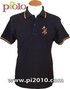 Polo Legión Española negro 22€. http://www.pi2010.com/polo-Bandera-España-1843/Polo-casa-real-hombre  Si te gusta, comparte