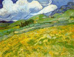 Paisaje montanoso detras del Hospital Saint Paul Van Gogh 1889