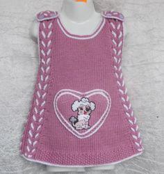 Baby Cardigan Knitting Pattern Free, Knitting Patterns Free, Baby Knitting, Free Pattern, Baby Shark, Knitting Stitches, Baby Wearing, Knit Crochet, Girls Dresses