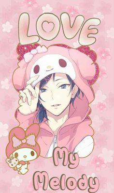 Wallpaper Yuu of the Sanrio Danshi - Love My Melody - By Dri Sanrio Hello Kitty, Little Twin Stars, Sanrio Characters, Anime Characters, Kawaii Cute, Kawaii Anime, My Melody Wallpaper, Kitty Wallpaper, Keroppi