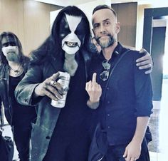 Abbath of Immortal and Nergal of Behemoth.