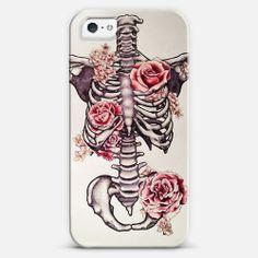 Floral Skelton iPhone 5 case by Zuhre | Casetagram