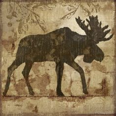 Country Moose Poster by Nan at AllPosters.com