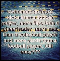 Some people think swimming is a wimp sport or not even a sport at all but this proves that it is.maybe when people hear tho they will look at swimming differently🏊 Swimming Funny, Swimming Memes, I Love Swimming, Swimming Diving, Funny Swimming Quotes, Sea Diving, Competitive Swimming, Synchronized Swimming, Michael Phelps