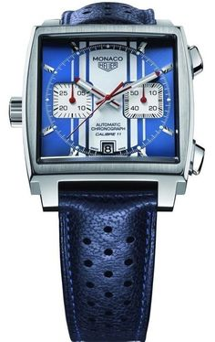 TAG Heuer �quot�Monaco�quot� Square Watch with Alligator Strap, 39mm PRICE $5,350.00