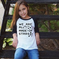 4d926a9a8 Items similar to We Are All Made of Stars - Kid Raglan - Star TShirt - Kid Graphic  Tee - Inspirational Kids - Tween Clothes Girl - Gift for Kids on Etsy