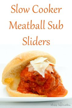 meatball sliders are so yummy and quick to make in your slow cooker ...