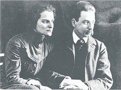 Rainer Maria Rilke mit seiner Frau Clara Rilke - Westhoff