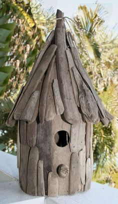 Small Driftwood Birdhouse   Individually handcrafted of natural driftwood, this beautiful piece of art can be used a s real...