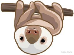 A cute design or illustration of an adorable stack or sloths. Great as stickers and t-shirts. Perfect for those who love sloths, animals, or kawaii art. Baby Sloth, Cute Sloth, Tumblr Stickers, Sticker Bomb, Aesthetic Stickers, Laptop Stickers, Kawaii Stickers, Portable, Thing 1