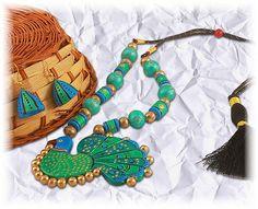 handmade terracotta Necklace