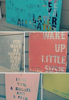 DIY Art. This blog also has tons of crafty projects/decor/recipes.