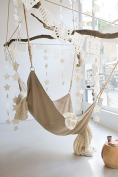 DIY Hammock Chair Design Ideas For Cozy Home Inspiration Nachhaltiges Design, Chair Design, Design Elements, Diy Hammock, Indoor Hammock Chair, Crochet Hammock, Hammock Swing, Cosy Home, Deco Nature