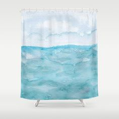 Watercolor by TessaSanDiegoArt on a shower curtains. Customize your bathroom decor with unique shower curtains designed by artists… Shower Curtains, Watercolor Art, Artists, Bathroom, Unique, Design, Decor, Washroom, Decoration