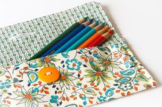 Your place to buy and sell all things handmade Coupon Organization, Bag Organization, Sewing Ideas, Sewing Projects, Simple Projects, Pencil Pouch, Project Ideas, Buy And Sell, Floral