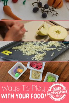 Preschoolers will LOVE this!  5 {Fun} Ways to Play with Food - http://kidsactivitiesblog.com/46512/play-with-food