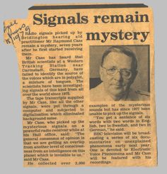 Raymond Cass newspaper article, 1979. Kinda creepy...