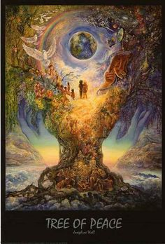 A fantastic poster of fantasy art by British artist Josephine Wall - the Tree of Peace! Check out the rest of our magical selection of Josephine Wall posters! Need Poster Mounts. Josephine Wall, Elfen Fantasy, Fantasy Art, Image Yoga, Art Expo, Love Oracle, Art Visionnaire, Peace Poster, Alex Grey