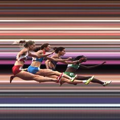 I need to use this somehow, someway as a writing prompt!!    The women's 400-meter hurdles as captured by Sports Illustrated...