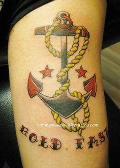 Upper shoulder and arm tribal tattoo design gwan soon for Hold fast tattoo
