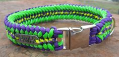 Paracord dog Collars - You help me design your colors and you pick the pattern - Dog Gear - paracord adventure dog gear - Pet supplies