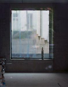 Sabine Hornig / Figur am Fenster, 2011 Interior Windows, Multimedia, Fine Art Photography, Contemporary Art, Abstract, Gallery, Artist, Artwork, Painting