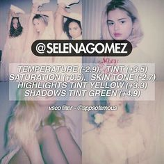 If you are wondering how Selena edits some of her pictures, here is a similar editing technique.