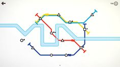 A calming strategy game that is as beautiful as it is simple, Mini Metro lets players design subway maps for a growing city.