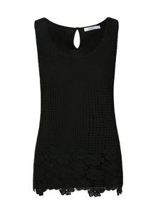 Crochet Tank, Black #loverickis #rickisfashion #rickis #instantoutfit #instantOOTD #spring #spring2017 #springfashion