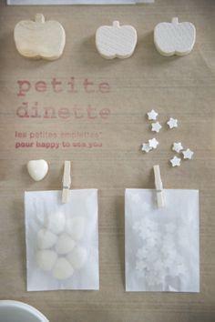 les petites emplettes : petits packs cadeaux, petits emballages, petits rangements, etc etc