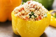 Vegetarian Stuffed Red Bell Peppers Recipe on Yummly