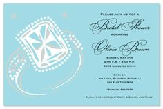 Engagement Party Invitations, Big Bling Engagement Invitation