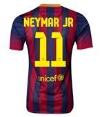 Barcelona 13/14 NEYMAR JR Authentic Home Soccer Jersey