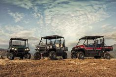 New 2016 Kawasaki Mule Pro-FXT Ranch Edition ATVs For Sale in Florida. 2016 Kawasaki Mule Pro-FXT Ranch Edition, THE KAWASAKI DIFFERENCE Kawasaki Strong Managing a ranch is hard work. To make the job easier, we created the MULE PRO-FXT Ranch Edition side x side with special components like a Warn Vantage Winch and Electric Power Steering to help get the tough jobs done. Top it off with premium Metallic Titanium painted bodywork and the comfort of padded two-toned bench seats for the ultimate…