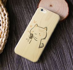 All because of #cat Tap the link in our bio to shop our #wood collection #phonecase