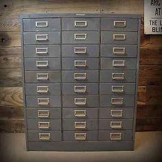 Vintage Industrial Steelmaster 30 Drawer File Organizer Tool Supply Cabinet Case