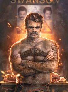 Ron ****ing Swanson by Sam Spratt