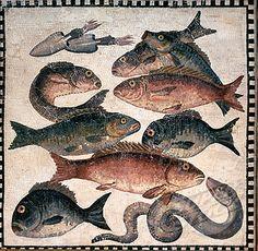 Ancient Mosaic, Fish