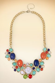 Faux Turquoise Burst Necklace #BostonProper #Jewelry #Accessories