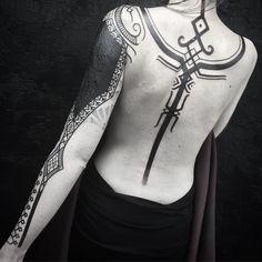 Vikings tattoos by Peter Walrus Madsen, a Mash-Up of Nordic Folk Art and Geometr. - Vikings tattoos by Peter Walrus Madsen, a Mash-Up of Nordic Folk Art and Geometry – KickAss Thing - Hamsa Tattoo, Orca Tattoo, I Tattoo, Necklace Tattoo, Tatoo Art, Body Art Tattoos, Tribal Tattoos, Sleeve Tattoos, Cool Tattoos