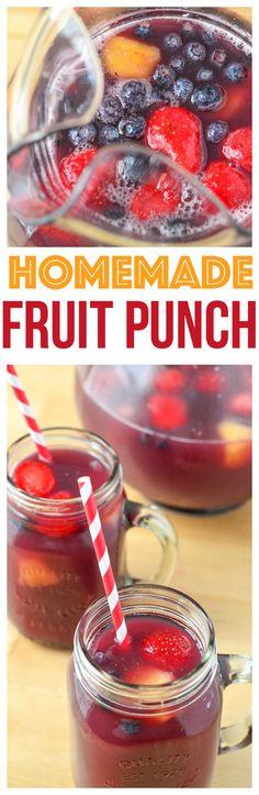 Fun drinks recipes for Kids Mini Chef Mondays homemade fruit punch recipes fruit punch recipes for kids fruit punch recipes non alcoholic  via @CourtneysSweets