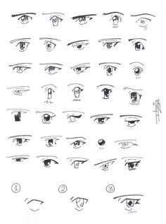 Anime Drawing Tutorial How to draw Manga eyes by ~Itzia on deviantART - Manga Eyes, Anime Eyes, Comic Drawing, Manga Drawing, Cute Kawaii Drawings, Cool Drawings, Girl Eyes Drawing, Japanese Eyes, Chibi