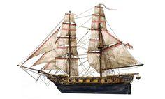 Assassin's Creed IV Black Flag Ship British Military Brig by Max Qin Model Sailing Ships, Old Sailing Ships, Model Ships, Arte Alien, Assassins Creed Black Flag, Ship Drawing, Wooden Ship, Boat Building, Tall Ships