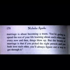 The Wedding Nicholas Sparks Quotes   Marriage quote by Nicholas Sparks