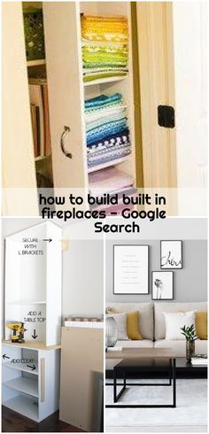 how to build built in fireplaces - Google Search , how to build built in fireplaces - Google Search... ,  #build #Built #fireplaces #Google #Search Ikea Billy Bookcase Hack, Fireplaces, A Table, Google Search, Storage, Building, Furniture, Home Decor, Fireplace Set