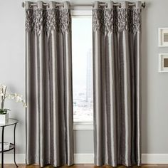 Bayonne Faux-Silk Grommet-Top Curtain Panel - JCPenney
