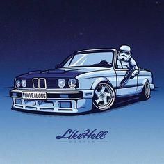W końcu stworzono odpowiednie auto dla Storm Troopersów ze #StarWars. Oczywiście to #E30 http://buff.ly/1K9jv3E