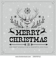 http://image.shutterstock.com/display_pic_with_logo/59809/339370712/stock-vector-vector-illustration-of-head-of-deer-with-big-horns-new-year-s-wishes-merry-christmas-and-happy-339370712.jpg