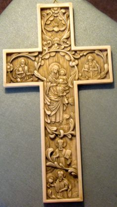 Byzantine True Church Cross from Italy Antiqued Alabaster  11.25 X 6.25